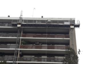 Lavori in facciata Roma Noleggio effettuato dalla Ponteggi Elettrici Roma