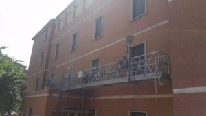 Bilancia sospesa a fune intervento di manutenzione presso Convento Brigida Postorino Roma